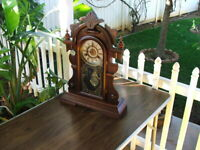 RARE Antique Victorian Parlor or Mantle Clock, BEAUTIFUL Walnut, USA Made