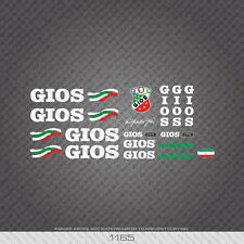 01165 Gios Evolution Bicycle Stickers - Decals - Transfers