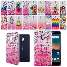 """For Nokia 2V / 2.1 5.5"""" Design Slim Sparkling Silver TPU Silicone Case Cover"""