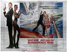 DANGEREUSEMENT VOTRE Affiche Cinéma GEANTE 4x3 WIDE Movie Poster JAMES BOND