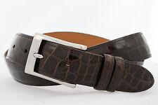 Genuine American Alligator brown glossy finish Custom handmade belt (Size 32-44)