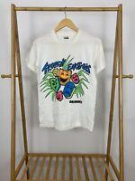 VTG 80s Tropical Emotions Bahamas Bold Colorful Thin 50/50 T-Shirt Size M USA