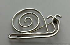 """Estate Sale Unique Snail .925 Solid Sterling Silver Pin Brooch 1.75"""""""