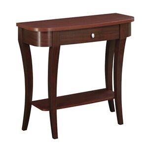 Convenience Concepts Newport Console Table, Mahogany - 121499MG