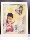 The Bell of Hope Signed Dated 1974 Print by Ettore Ted DeGrazia