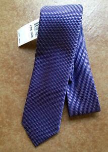 New Ted Baker Men's Micro Tick Neck Tie, Purple/Blue/Pink