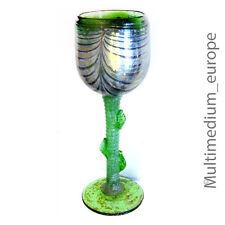 Glas kelch Römer Kunstglas wohl Eisch grün silber farben irisiered