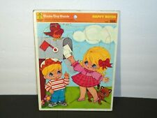 Vintage 1973 Happy Notes Merrigold Press Tray Puzzle Children's Toy