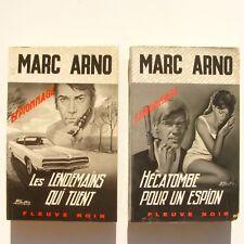 Lot de 2 fleuve noir n°921 n°983 - Marc Arno - Hécatombe pou un espion - 1972