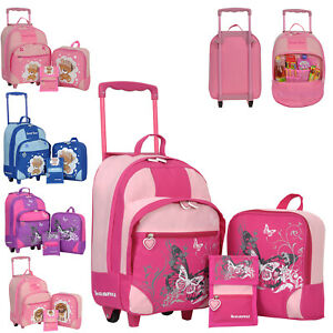 Kindertrolley 3er SET Mädchen Jungen Trolley Kindermotive Rucksack Handgepäck