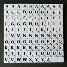 New Mini Scrabble Tiles 100 Pieces Black Letters on Ivory and Colours Free Post