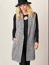 Kaleidoscope Size 12 Longline Luxury Boucle WAISTCOAT Jacket Winter Evening New