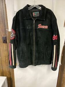 Snap-On Tools Black Suede Leather Jacket 1920's 2008 Edition Sz L