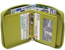 LEDER Geldbörse THE BOX - limone - Geldbeutel mit Wiener Schachtel Portemonnaie