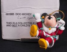 Grolier Disney Mickey Mouse Wrapped in Lights Christmas Ornament 001905