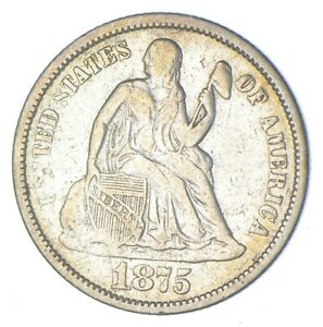 Historic 1875-CC Seated Liberty Dime *921