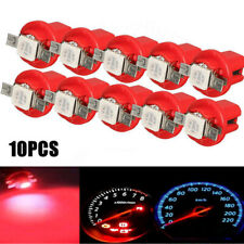 10pcs T5 B8.5D Gauge 5050 1SMD LED Car Dashboard Dash Side Lights Indicator Red