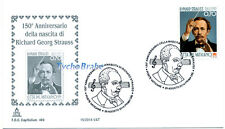 FDC 150° BIRTH RICHARD STRAUSS - VATICAN 2014 First Day Cover CAPITOLIUM 499