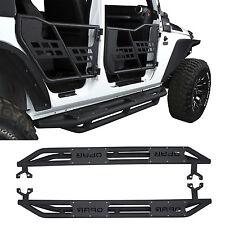 US Armor Textured Black Side Step Nerf Bar for 07-18 Jeep Wrangler & JK 4 Door