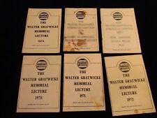 Walter Gratwicke Memorial Lectures 1970 1971 1972 1973 1975 1978 Tram Railway Sd