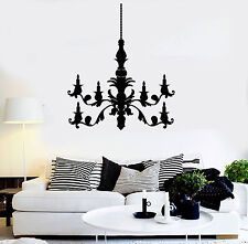 Vinyl Wall Decal Candle Chandelier House Room Decoration Stickers (ig3786)