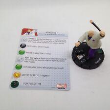 Heroclix Deadpool set Kingpin #059 Super Rare figure w/card!