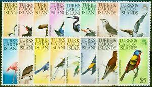 Turks & Caicos 1973 Birds Set of 16 SG381-395 Fine Mtd Mint