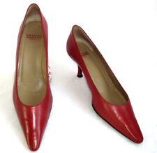 CHARLES JOURDAN - Escarpins vintage cuir rouge 7.5 38 - TRES BON ETAT BOITE