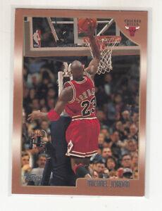 MICHAEL JORDAN 1998-99 Topps #77 Chicago Bulls The Last Dance