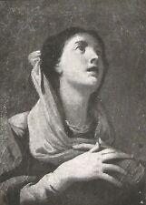 D0236 B. Schedoni - Santa in preghiera - Stampa d'epoca - 1927 old print