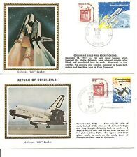 USA. Space Shuttle Columbia Lift-Off And Landing Nov 12-14, 1981, 2 covers. III