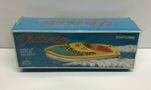 Schylling Victoria Classic Wind-Up Action Tin Litho Boat ** Factory sealed box