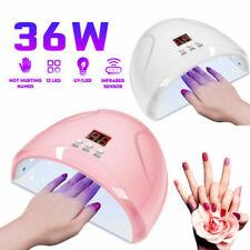 Gel Nail Lamp 36W UV LED Professional Nail Dryer Polish Light Auto Sensor Curing