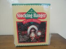 Vintage Hallmark Christmas Stocking Hanger -  Merry Mouse