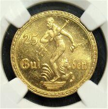 Poland: Danzig Free City gold 25 Gulden 1930 MS65 NGC