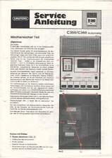 Grundig Service Anleitung Manual C350 / C360 Automatic B966