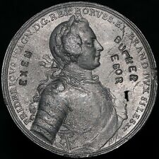 More details for frederick the great restrike medal 'white metal' | medals | km coins