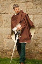 Medieval/LARP/PAGAN/SCA/Re enactment BROWN ARCHERS CLOAK 1 size fits all