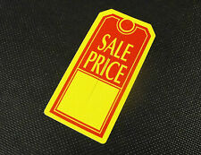 """LARGE TAGS 500 """"SALE PRICE""""- yellow and red, perforated chad merchandise tags"""