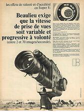 PUBLICITE ADVERTISING 054  1971  BEAULIEU     caméra SUPER 8