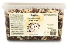 Callebaut 1kg Marbled Chocolate Curls for Cake Decoration and Cigarellos