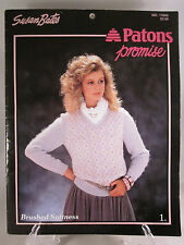 Susan Bates Knitting Pattern Book # 17645-Patons Promise Yarn Brushed Softness