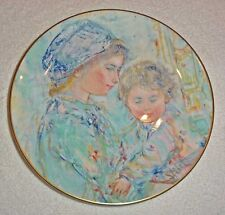 "Edna Hibel ""Colette and Child"" Royal Doulton, 1973 First of the series Orig Box"