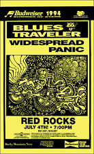 Blues Traveler Widespread Panic 1994 Original Denver Red Rocks Concert Poster
