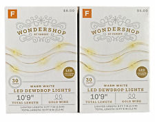 2 Sets Target Wondershop LED Mini Lights Warm White - Gold Wire - Free Shipping!