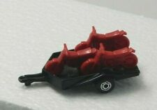 Matchbox 1979 Motorcycle Trailer Black with Red Motorcycles