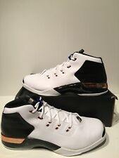 New Air Jordan XVII 17 + Retro White Metallic Copper B-grade Size 18 832816 122