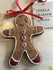 Gisela Graham Gingerbread Man Christmas Tree Hanging Decoration