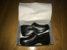 NEW Women's Dansko Professional Clogs Black Tooled Leather 41