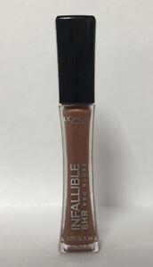 L'Oréal PARIS Infallible 8HR PRO Lip Gloss-825 DULCE DE LECHE-0.21oz.